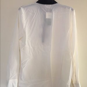 Kate Spade Bow Placket Silk Top Size M